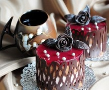 Chocolate Tango with Raspberry Jelly and Strawberry Soufflé