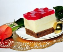 Heavenly Waltz Cake with Celestial Cherries and Bavarian Cream